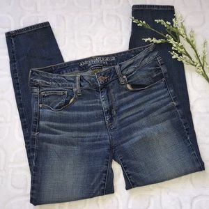 AMERICAN EAGLE Skinny Denim Jeans Size 10 Short